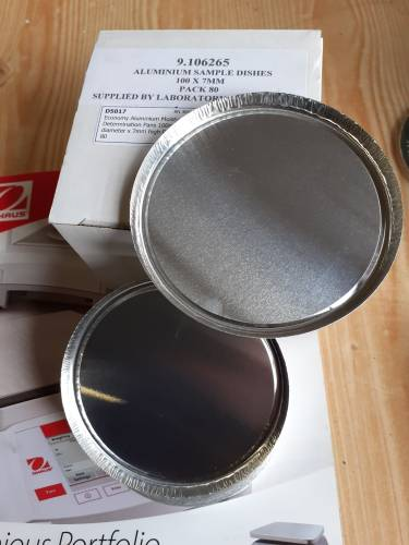 9.106265;Aluminium Sample pans for Moisture balances supplied by Laboratory Analysis Ltd